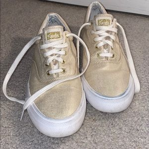 Metallic Gold Keds